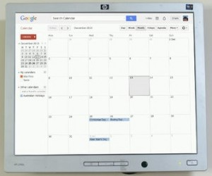 Google Kalender mit Touch Screen